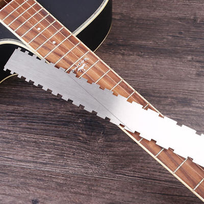 Guitar Neck Notched Straight Edge Luthier-Tool Guitar Fingerboard Fretboard Rule