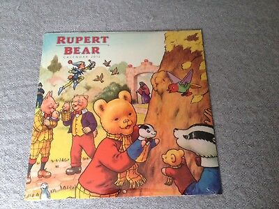 Rupert The Bear Collectable Calendar 2012 New Sealed