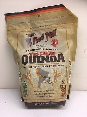 4 bags of Bobs Red Mill whole grain ORGANIC Tri-Color Quinoa - 13 oz each