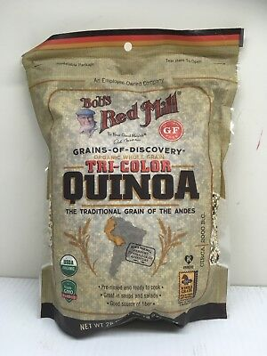 2 bags of Bobs Red Mill TRI-COLOR QUINOA whole grain ORGANIC Quinoa - 26 oz each