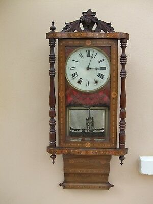 Jerome Superior 8-day American Wall Clock