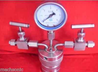 Hydrothermal synthesis Autoclave Reactor vessel & inlet outlet gauge 50ml 6Mpa