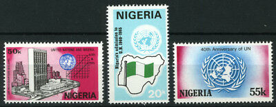 Nigeria 1985 Mnh Set 40Th Anniv. Of United Nations Organization
