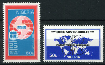 Nigeria 1985 Mnh Set 25Th Anniv Of Opec