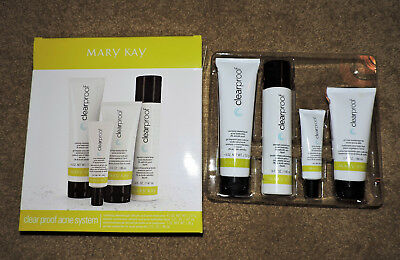 😎*NEW* Mary Kay Clear Proof Acne System 4 Piece FULL SIZE IN BOX-EXPIRED 01/16