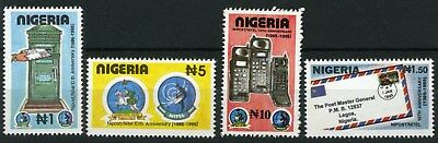 Nigeria 1995 Mnh Set 10Th Anniv. Of Nigerian Post And Telecommunication