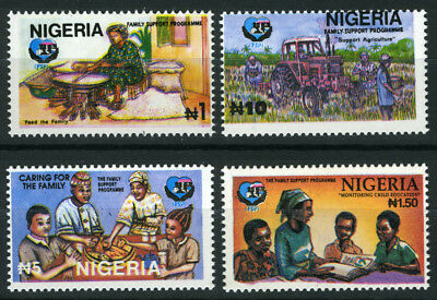 Nigeria 1995 Mnh Set Family Support Programme