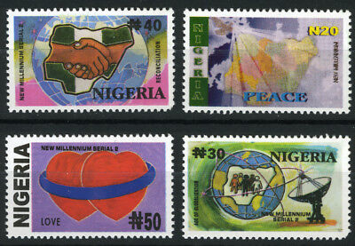 Nigeria 2002 Mnh Set New Millennium 2Nd Issue
