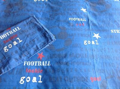 Next Football Single Duvet Cover & Pillow Case Blue Red Reversible