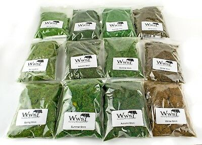 WWS Four Seasons Static Grass Kit - Railway Modelling OO/HO