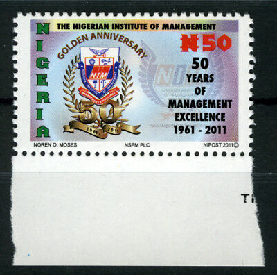 Nigeria 2011 Mnh 50Th Anniv. Of The Nigerian Institute Of Management