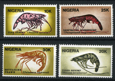 Nigeria 1988 Mnh Set Shrimps