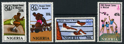Nigeria 1980 Mnh Set Olympic Games Moscow