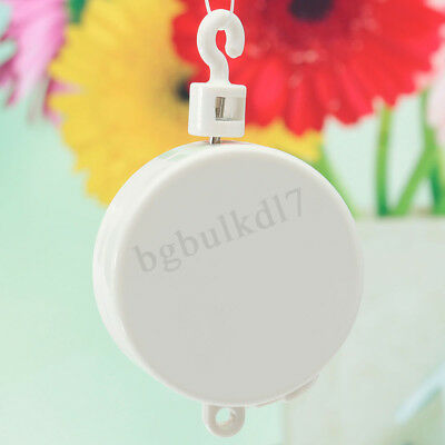 Baby Crib Mobile Bed Bell Toy Holder Arm Music Box DIY Rotary Windup Gift White