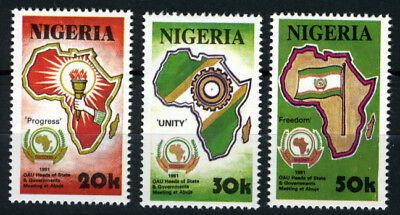 Nigeria 1991 Mnh Set Meeting Of African Heads Of State