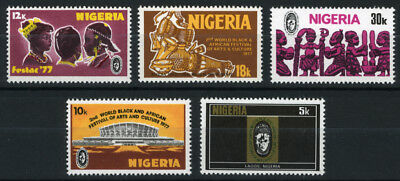 Nigeria 1976-77 Mnh Set World Black African Festival