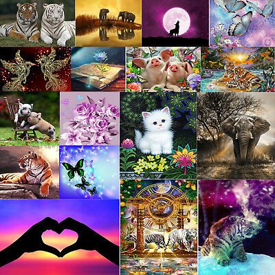 Animal Flower Beauty 5D Diamond Painting Embroidery DIY Cross Stitch Craft Kits