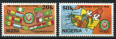 Nigeria 1991 Mnh Set Economic Community Of West African States