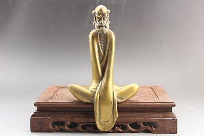 Collection Exquisite Chinese hand carving  brass old man statue   ar2