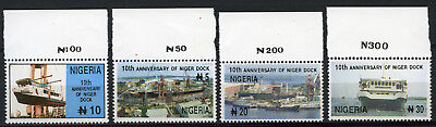 Nigeria 1996 Mnh Set 10Th Anniv. Of Niger Dock