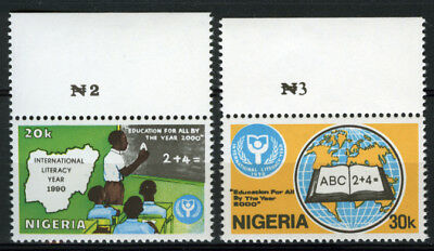 Nigeria 1990 Mnh Set International Literacy Year