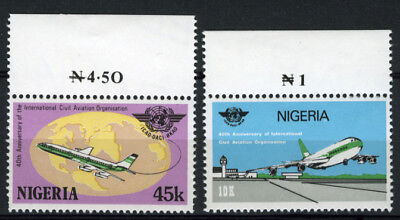 Nigeria 1984 Mnh Set International Civil Aviation