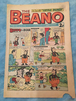 Beano Comic No 1659 May 4th 1974, Vintage Biffo the Bear, FREE UK POSTAGE