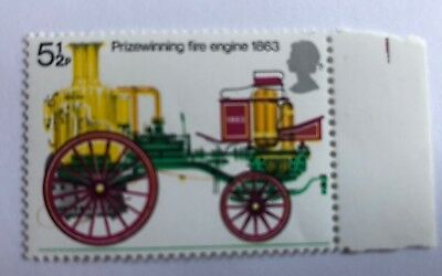 Mint Unmounted 1974 Fire Services 5½p Decimal Stamp PHOSPOR OMITTED