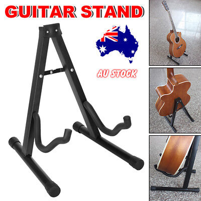 Portable Folding Electric Acoustic Bass Guitar Stand A Frame Rack Floor Holder