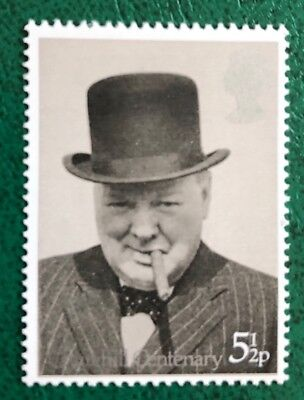Mint Unmounted 1974 Churchill 5½p Decimal Stamp PHOSPOR OMITTED