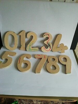Large Wooden Number Stencils for Kids Art 0-9 Shapes Drawing /crafting