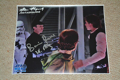 BARRIE HOLLAND & ALAN FLYNG signed Autogramm In Person 20x25 cm STAR WARS