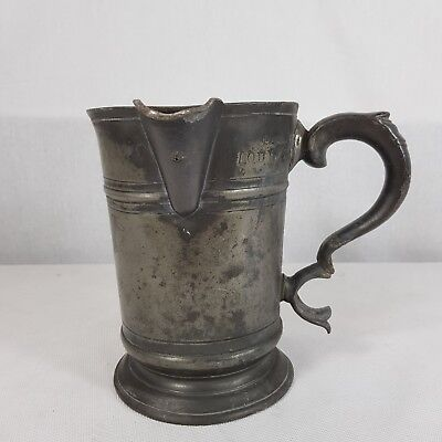 Antique Pewter Quart Measure Tankard G Farmiloe & Son Providence Tavern Ramsgate