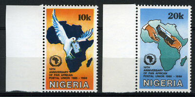 Nigeria 1990 Mnh Set 10Th Anniv. Of Pan African Postal Union