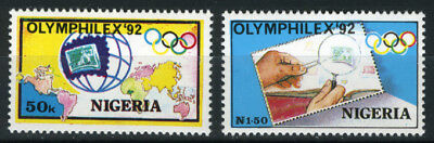 Nigeria 1992 Mnh Set Olymphilex '92 Olympic Stamp Exhibition Barcelona