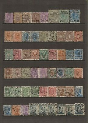 ITALY - Selection of old used stamps