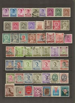 THAILAND - Selection of mostly USED stamps - some are hinged