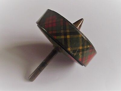 Antique 19th century Tartanware spinning top toy -  Mauchline treen