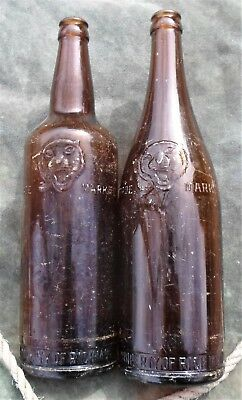 SCARCE Pair 1940s Different TIGER'S HEAD 26 Fl Oz RICHMOND Crown Seal BEERS GC!