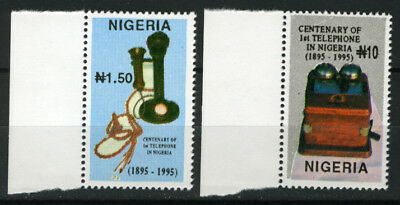 Nigeria 1995 Mnh Set Centenary Of First Telephone In Nigeria