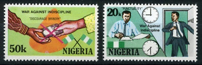 Nigeria 1985 Mnh Set War Against Indiscipline