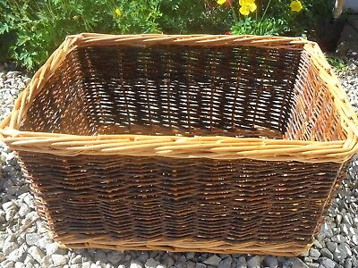 NICE LOOKING OLD   COLLECTABLE wicker log basket