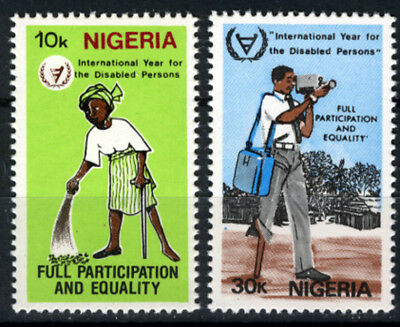 Nigeria 1981 Mnh Set International Year For Disabled Persons