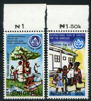 Nigeria 1987 Mnh International Year Of Shelter For The Homeless