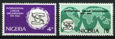 Nigeria 1969 Mnh Set 50Th Anniv. Of International Labour Organization