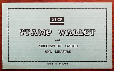Vintage XLCR Stamp Wallet with Perforation Guage and Measure