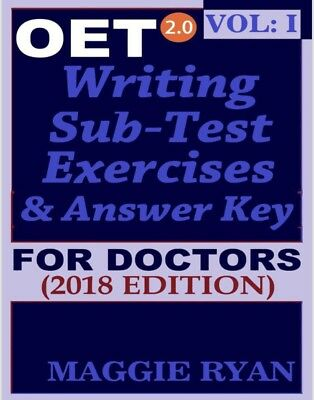 Occupational English Test-OET 2.0 Writing PDF book Vol 1 Medicine/Doctors