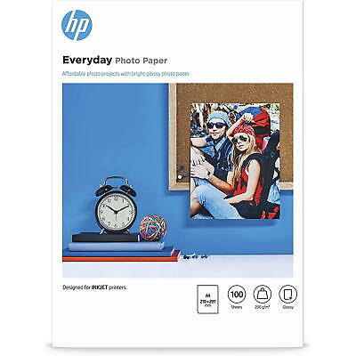 Original HP Everyday A4 Glossy Inkjet Photo Paper 200gsm - 100 Sheets (Q2510A)