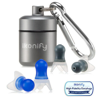IKonify 2 Pairs Ear Plugs Hearing Protection Noise Reduction Sleeping Earplugs