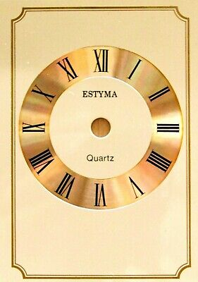 Replacement Quartz Estyma Gold Cream Carriage Clock Dial Face Black Numerals
